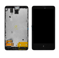 Replacement Lcd assembly with frame for Nokia X