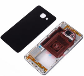 Replacement Middle Frame and  Back Glass Battery Cover housing for For Samsung A5 2016 A510 A510F